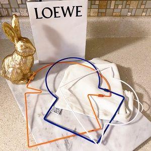 Auth. Loewe Couture Rare Felt Puzzle Necklace Set
